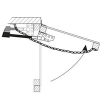 Горизонтальное крепление форточки